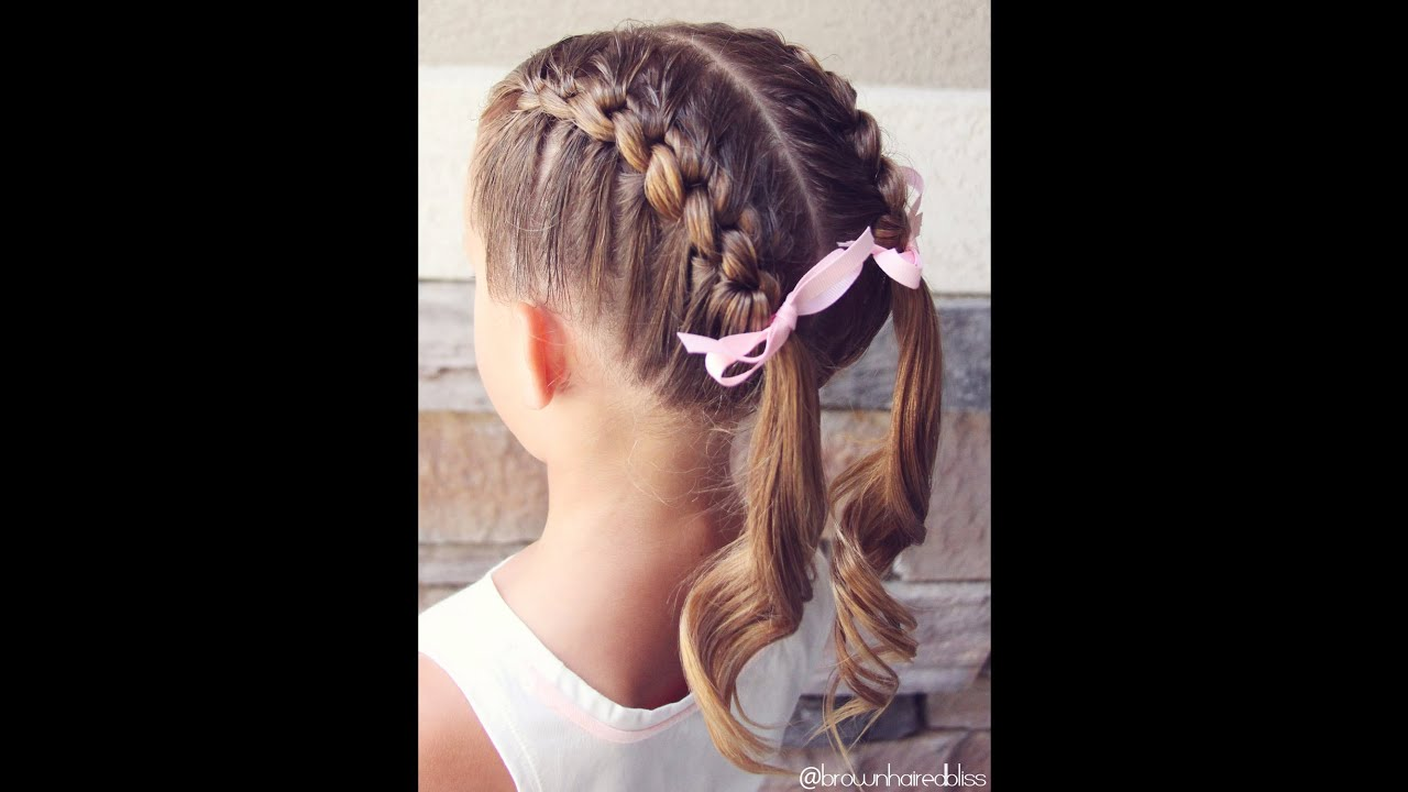 how to: knotted french braid pigtails tutorial   brown haired