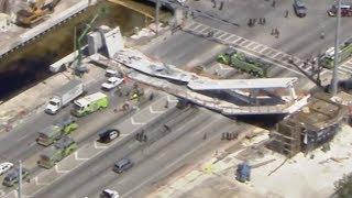 Пешеходный мост обрушился в Майами. Погибли 6 человек.