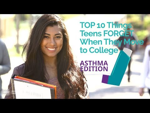 10 Things Teens Forget to Take to College - Asthma Edition