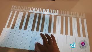 CES 2019 puppy cube触摸投影仪: 可以省下钢琴费省下键盘,什么都能省下来