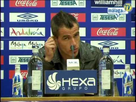 Málaga Club de Fútbol TV. Entreno: lunes 01/02/10. Rueda de prensa