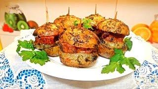 Картофель по-украински. Вкусный, печеный картофель с грудинкой и луком