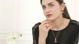 Isabelle Gold Burgundy