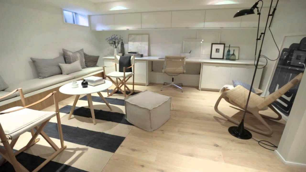 Interior Design Modern Scandinavian Inspired Bright Basement Renovation Youtube