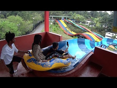 Crazy Water Slide at Melaka Wonderland