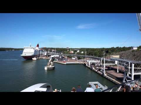 Arriving in Mariehamn - from onboard the M/S Viking Grace