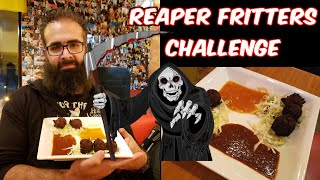 """Great Balls of Fire"" Carolina Reaper Fritter Challenge at Salvador Molly's 