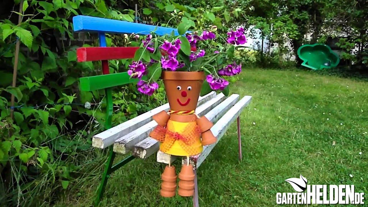 Gartenmännchen aus Tontöpfen basteln der gartenHELDEN de DIY Tipp YouTube ~ 04211908_Gartendeko Mit Kindern Gestalten