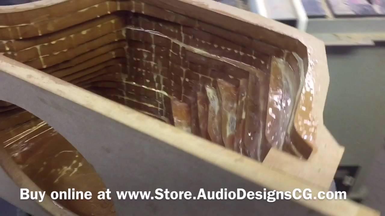 Honda Civic custom subwoofer box 2011-2015 - YouTube