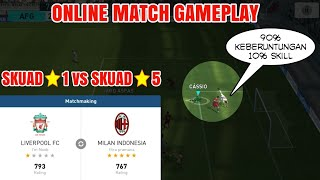 Pes 2018 mobile   Online Match Gameplay Skuad Bintang 1 vs Skuad Bintang 5