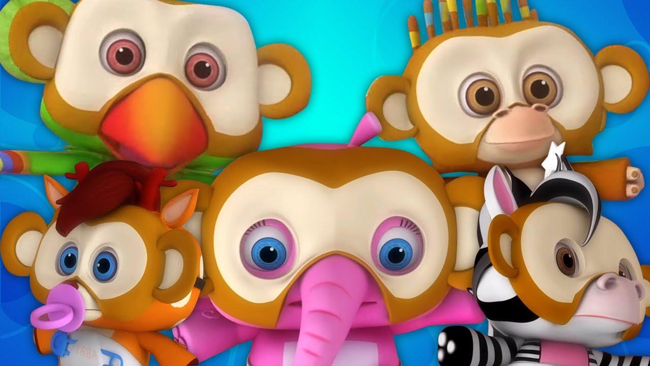 Lima Monyet Kecil Lagu Anak Kartun Anak Lagu Populer Five