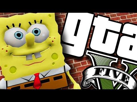 GTA V PC - Bob Esponja MALUCO! (MODS)