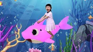 아기상어를 타고 물속 여행해요 | baby shark Kids Songs and Nursery Rhymes with nursery rhymes songs