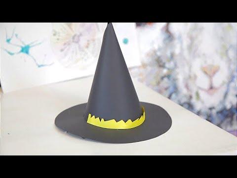 Как сделать шляпу ведьмы из бумаги