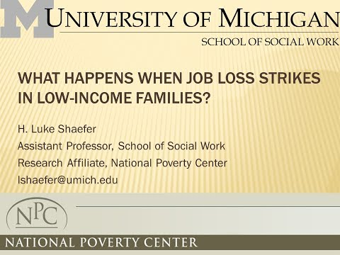What Happens When Job Loss Strikes in Low-Income Families?