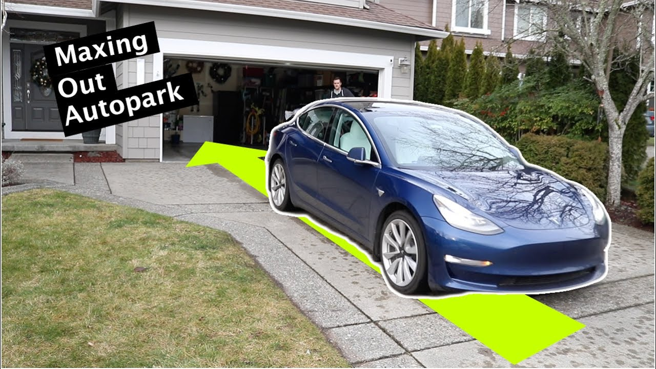 How Far Can Summon Autopark Be Pushed? // Tesla Model 3 & Y