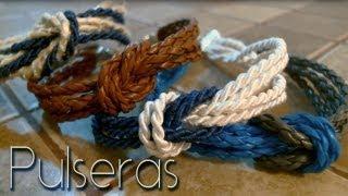 Pulseras con nudo marinero / sailor knot bracelets ♥ Thumbnail