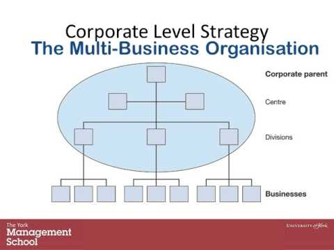 corporate strategy 1 There are three main levels of management in any organisation 1 corporate level (top level) 2 business level (middle level) 3 functional level (bottom level)  corporate level strategy is formulated at the top management level , middle and bot.