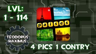 all answers of 4 Pics 1 Country Puzzle 1 -114 (english / spanish) 2014
