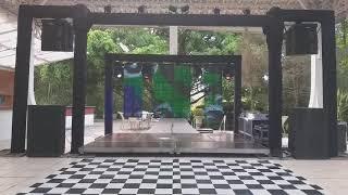 Estrutura para banda Salão Vale azul