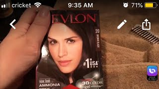Revlon 3D colorsilk brown black DIY hair color