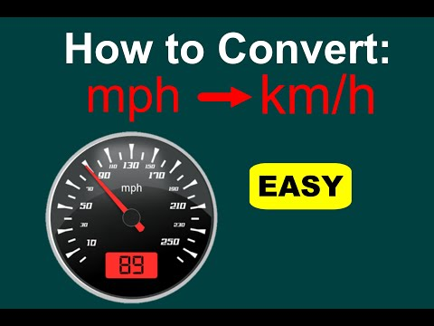 How To Convert Mph To Kmh Mph To Kph Easy Youtube
