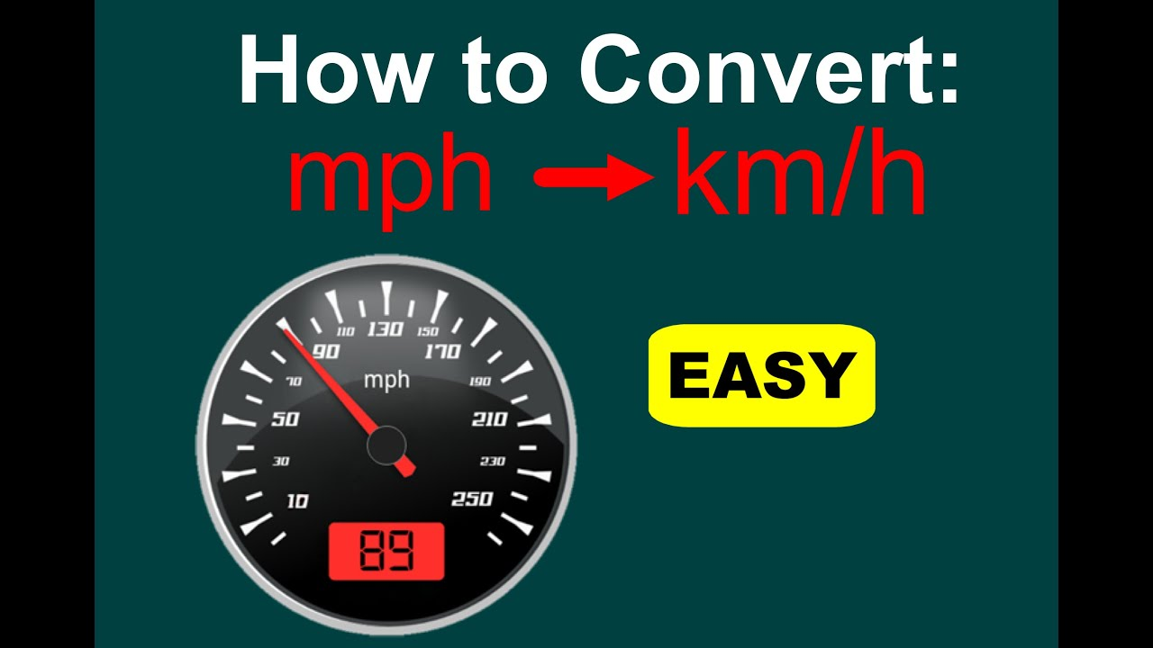 How to Convert mph to km/h (mph to kph) [EASY]