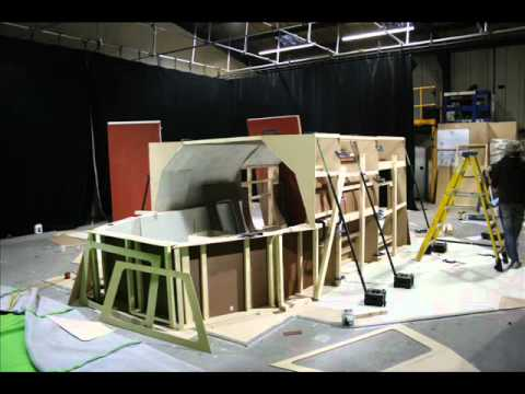 The Shed Spaceship INT Construction Time Lapsewmv YouTube