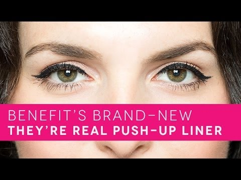 How To: Easy Cat Eye with Benefit Cosmetics' New They're Real! Push-Up Liner