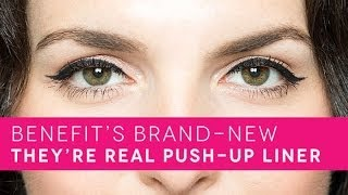how to easy cat eye with benefit cosmetics new they re real push up liner