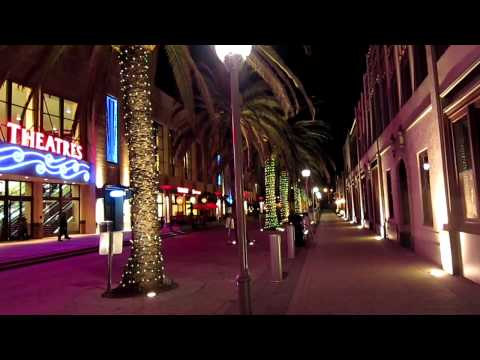 Tourist - Redwood City in a winter night