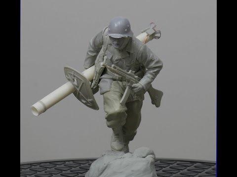 Sculpting 1/16 German SS soldier part 4