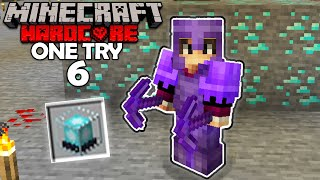 Beacon Mining is Insane! (Minecraft One Try #6)