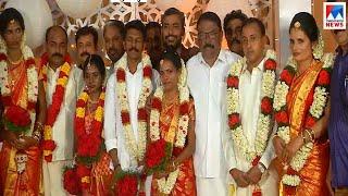 നാലുപെണ്കുട്ടികള്ക്ക് മംഗല്യഭാഗ്യം; കൈപിടിച്ച് നൽകി ചെയർമാനും എംഎൽഎയും | Alappuzha wedding