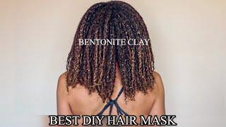 BEST DIY HAIR MASK BENTONITE CLAY ON NATURAL HAIR 4B SOUTH AFRICAN HAIR YOUTUBER