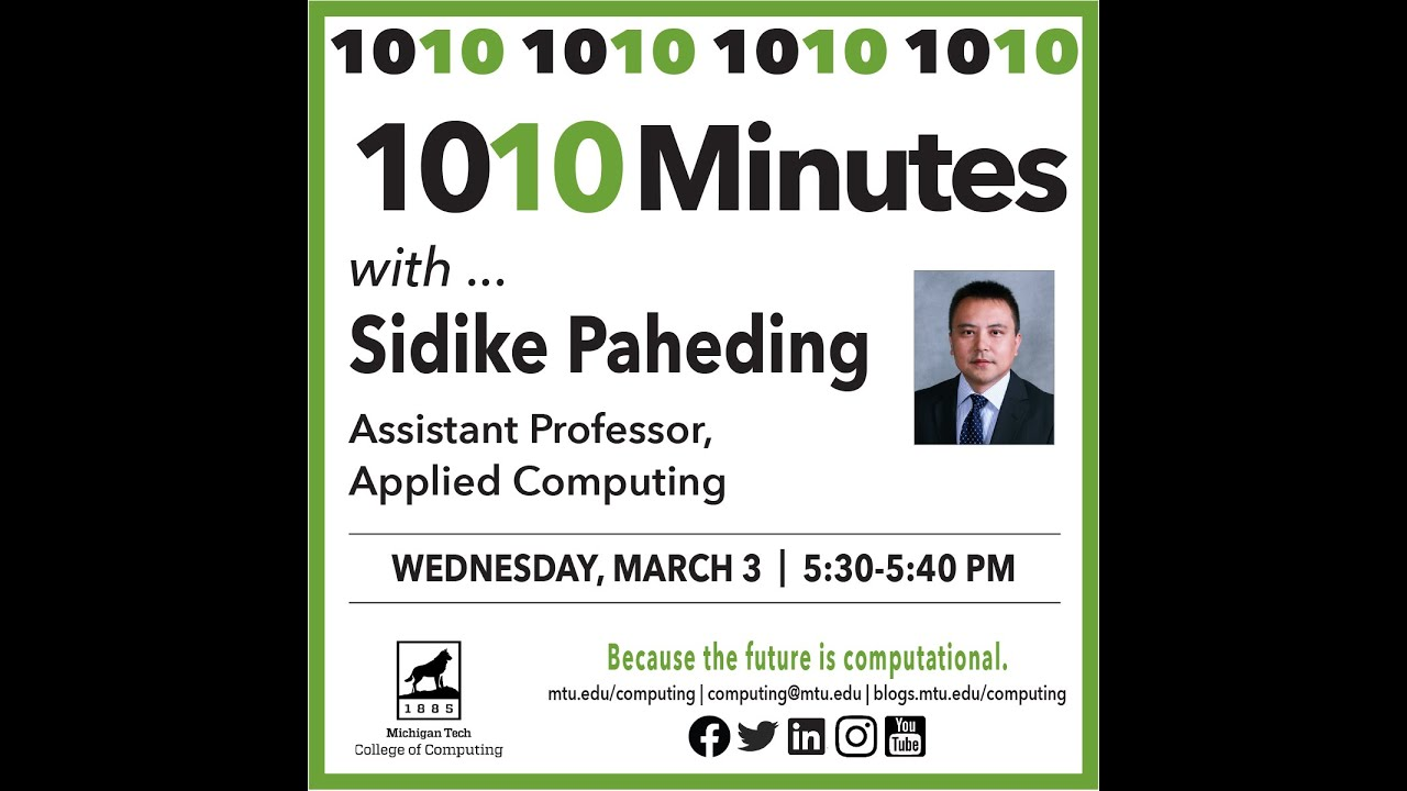 Preview image for 1010 with Sidike Paheding, Mar. 3, 2021 video