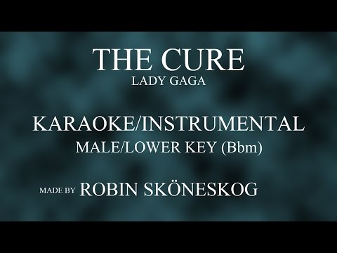 THE CURE (ACOUSTIC) - LADY GAGA | LOWER/MALE KEY (KARAOKE/INSTRUMENTAL) w/ LYRICS