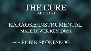 THE CURE (ACOUSTIC) - LADY GAGA | LOWER/MALE KEY (KARAOKE/INSTRUMENTAL) w/ LYRICS