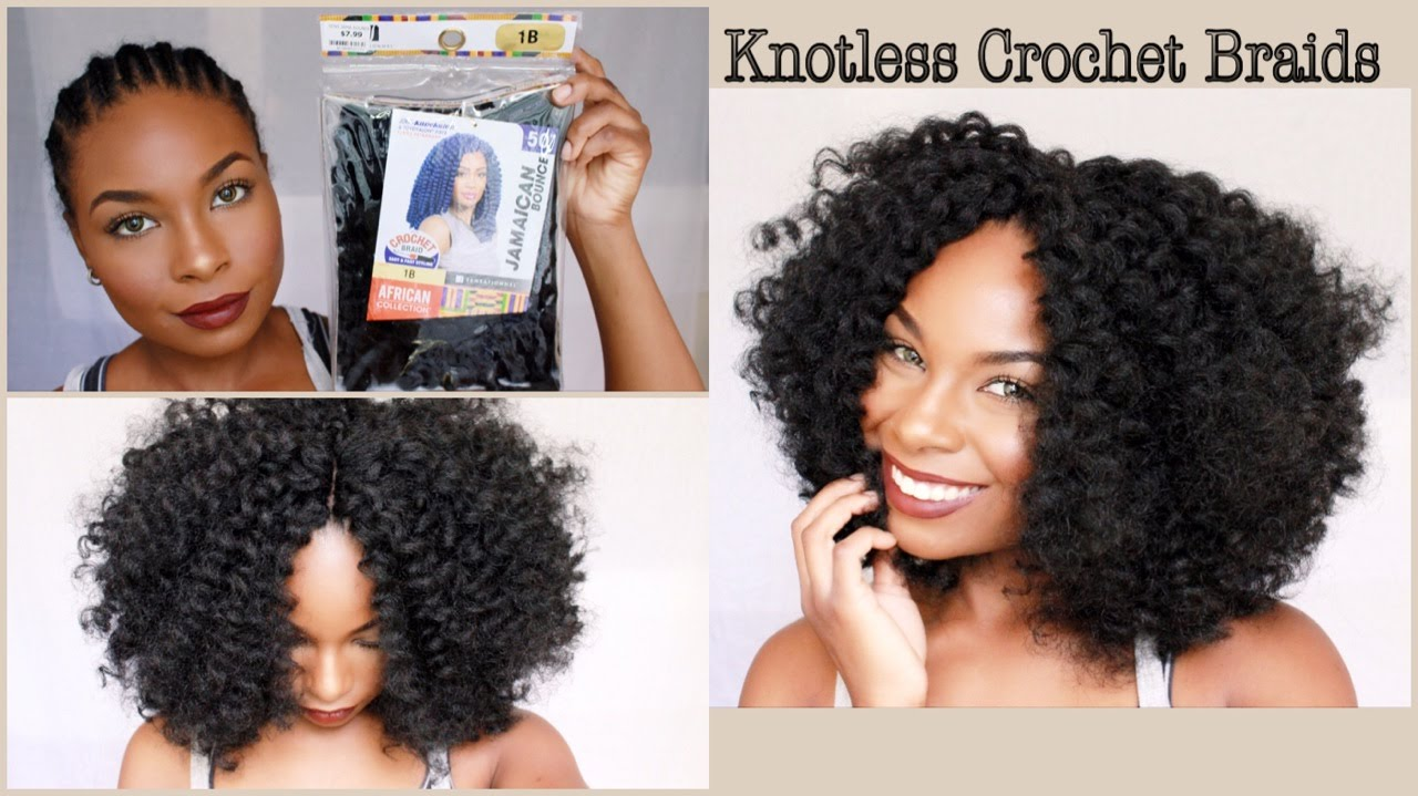 Quick Amp Simple Crochet Braids Knotless Method Youtube
