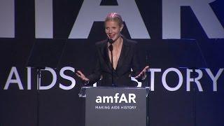 Gwyneth Paltrow Gushes Over Chris Martin at amfAR Gala!