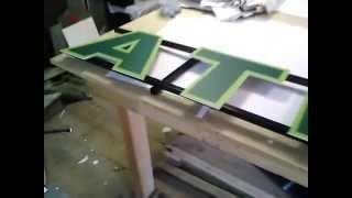 видео Буквы на дистанционных держателях