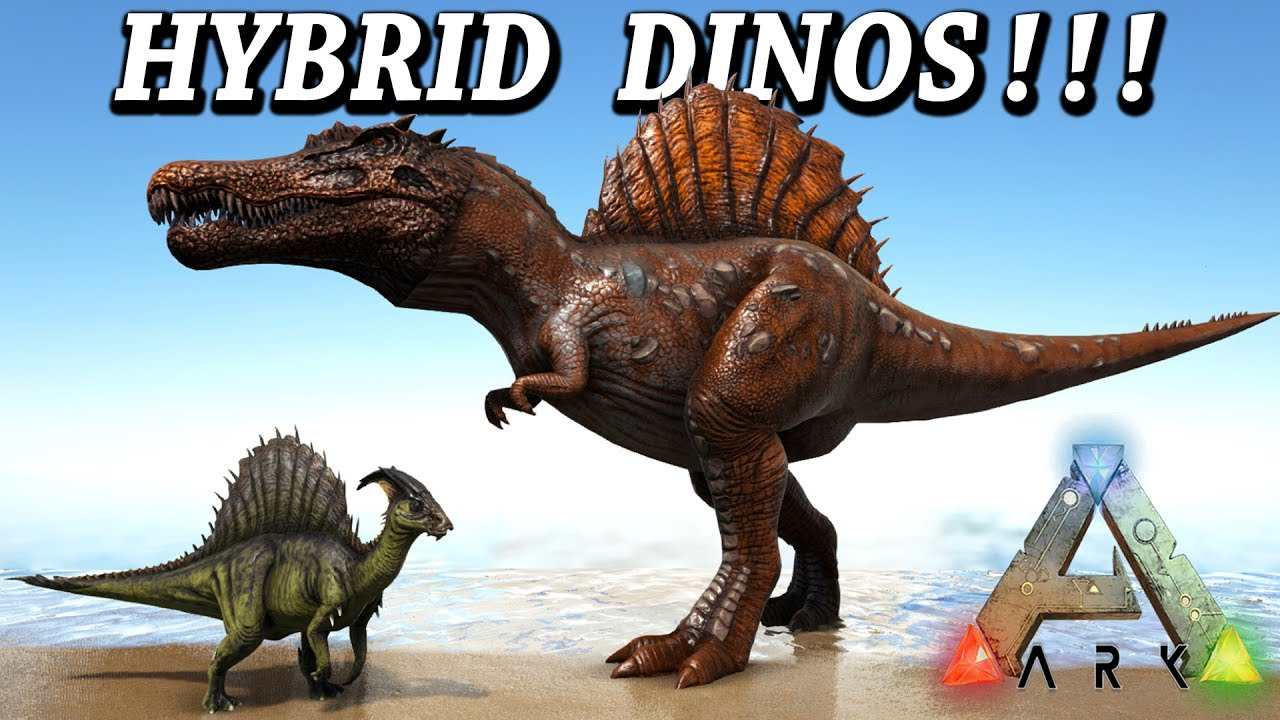 ARK HYBRID DINOS!! SPINOREX MOSAREX & MUCH MORE!! Ark ...