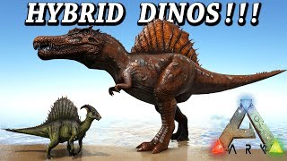 ARK HYBRID DINOS!! SPINOREX MOSAREX & MUCH MORE!! Ark Survival Evolved Modded Gameplay Hybrid Dino