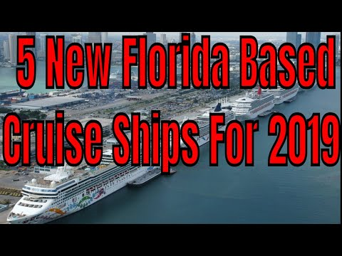 5 New Cruise Ships For Florida 2019 Symphony of the Seas Celebrity Edge NCL Bliss Carnival Horizon