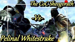 skyrim battles pelinal whitestrake vs the coc sheogorath legendary settings