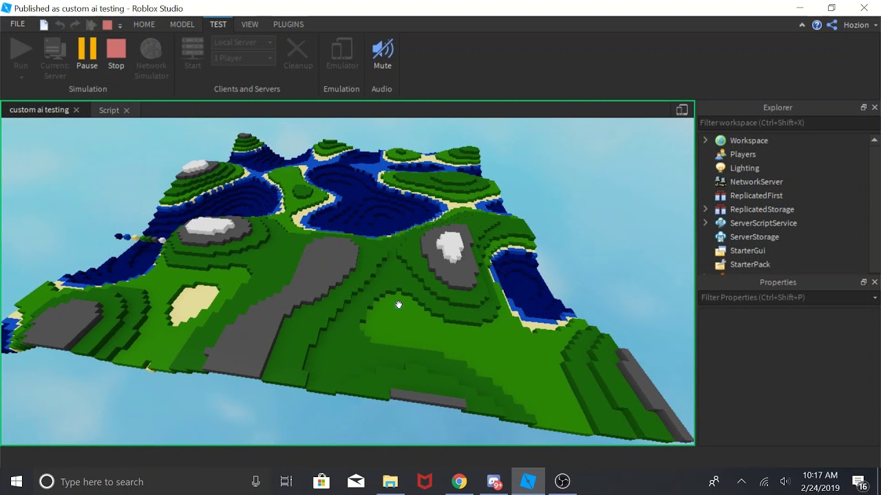 simple procedural generation using perlin noise roblox