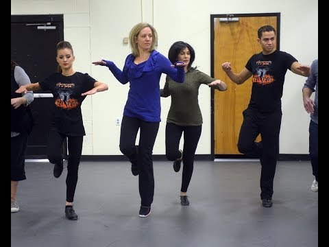 Local celebs learn to Riverdance from Heartbeat of Home dancers
