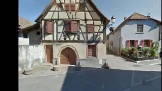 Wettolsheim, l'Alsace des colombages, et maisons à couleurs gaies