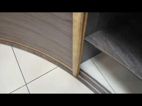 Радиусный шкаф купе - YouTube