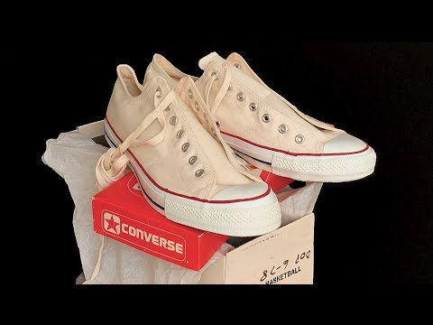 Vintage USA-MADE Converse NEW-IN-BOX All Star Chuck Taylor shoes at  collectornet.net ASMR 6c9b1d875